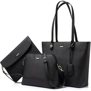 Handbags for Women - Shoulder Bags - Tote Satchel Hobo 3pcs Purse Set