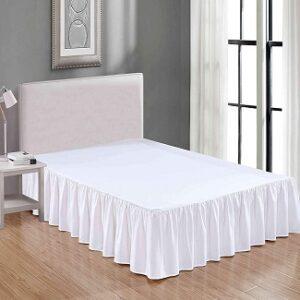 SHEETS & BEYOND Ruffled Bedding Bed Skirt 14 Inch Drop