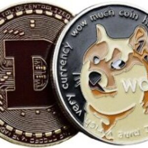 YOROKOBI | 1oz Dogecoin Coin | Commemorative Coin Tokens | 2021 Limited Edition | to The Moon | Collectible with Protective Case (Stoving Varnish)
