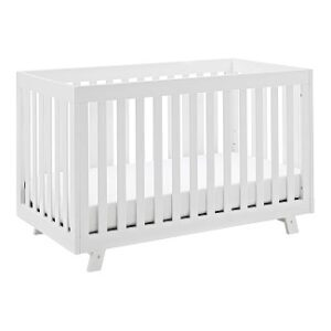 Storkcraft Beckett 3-in-1 Convertible Crib (White) Fixed Side Crib, Solid Pine and Wood Product Construction, Converts to Toddler Bed or Day Bed (Mattress Not Included)