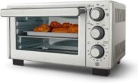 Oster Compact Countertop Oven with Air Fryer, Stainless Steel